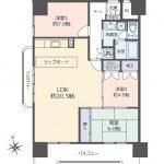 南・西角部屋の4LDK(間取)