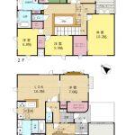 2~2世帯も可能な大型住宅(間取)