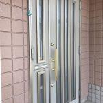 親子ドアの玄関ドア(玄関)